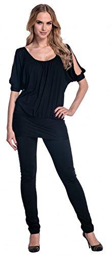 Glamour Empire para mujer Camiseta Top de jersey Hombros Descubiertos. 221 Negro