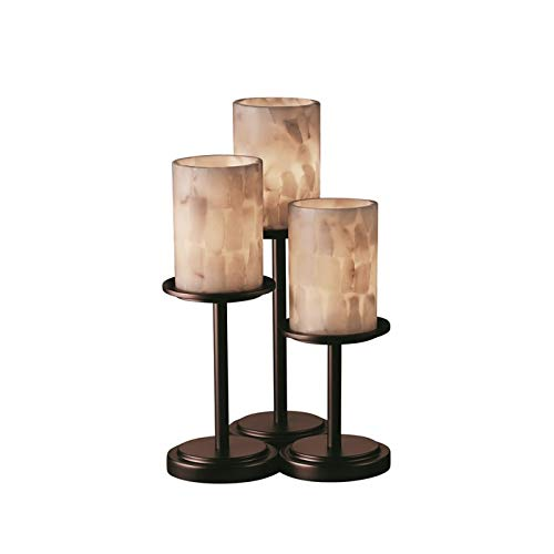 Justice Design Group ALR-8797-10-DBRZ Table Lamp from the Alabaster Rocks! Collection