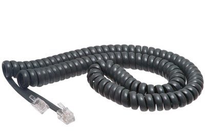 Cisco Gray Coiled Telephone Handset Cord - 12 Foot Standard Length - 1.5 Inch Flat Leader - Heavy Duty - Universal - GUARANTEED for life | Cisco 7940 / 7965 / 7914 / 9971 / 7937 / 7960 / 7821 / 7937 / All Models - Coiled Telephone Handset Cord 12 FT