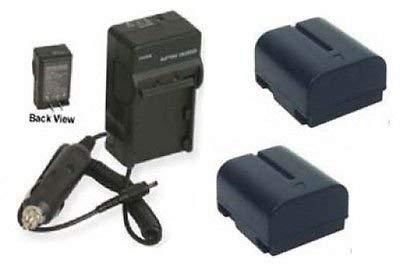 2つ2 bn-v408u-h電池+充電器for JVC gr-d94u、JVC gr-d200u、JVC gr-d201、JVC gr-d201u B01DLNKR0U