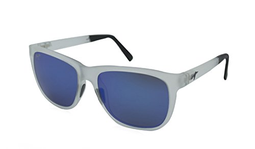 Maui Jim Tail Slide B740-05CM | Sunglasses, Forsted Crystal, with with Patented PolarizedPlus2 Lens Technology