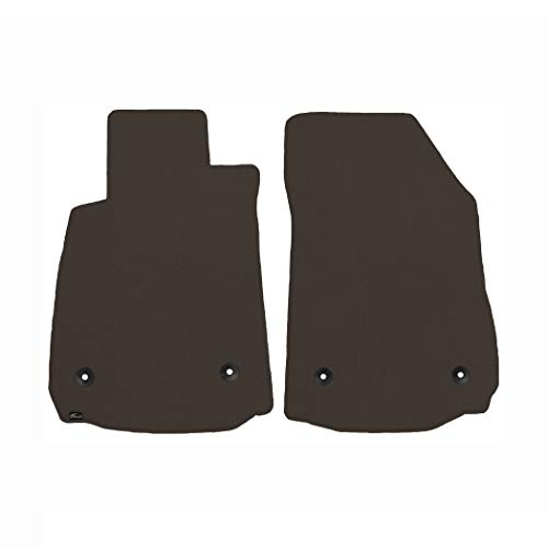 Brightt (MAT-MWX-144) 2 Pc Front Floor Mats - Black - compatible for 1965-1968 Ford Galaxie 500 (1965 1966 1967 1968 | 65 66 67 68)