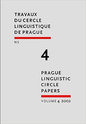 Amazon Prague Linguistics Circle Papers Travaux Du Cercle Linguistique De Prague N S Prague Linguistic Circle Papers Hajicova Eva Words Language