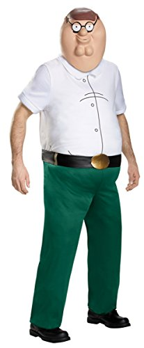 Guys Good Costumes (Family Guy Costume, Mens Peter Griffin Deluxe Outfit, X-Large, Chest 42 - 46