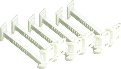 Topcom CP101 kinderbeveiliging – veiligheidshaken/veiligheidsclips voor laden – 6 stuks, wit