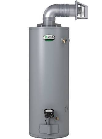 AO Smith 50-Gallon Direct Vent With Side Taps Natural Gas Hot Water Tank/Heater GDVT-50Lr -