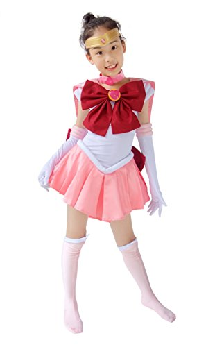 Dazcos Child Sailor Moon Chibi Usa Small Kids Cosplay Costume (Child S)