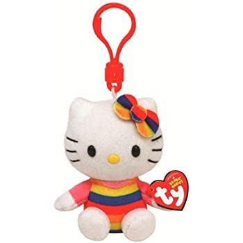 Amazon.com: Ty Beanie Babies Hello Kitty Ballerina - Clip On ...