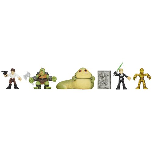 Luke Skywalker Jabbas Palace - Star Wars Playskool Heroes Jedi Force Jabba's Palace Rescue Set