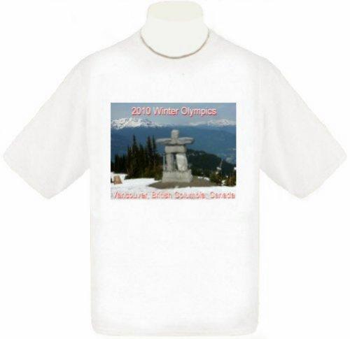 (2010 Vancouver Olympics Uni-Sex T-Shirt (child Small, White) )
