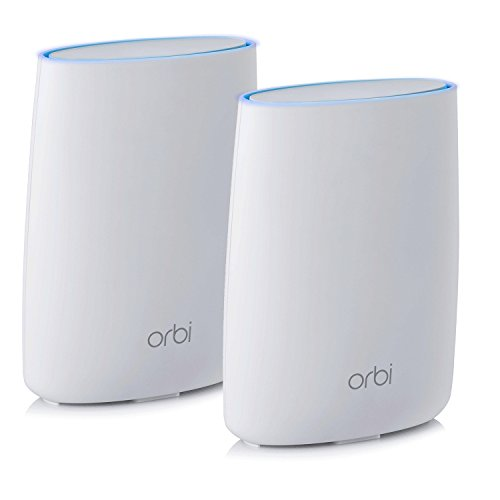NETGEAR Orbi Home WiFi System: AC3000 Tri Band Home Network with Router & Satellite Extender for up to 5,000sqft of WiFi coverage (RBK50) Works with Amazon Alexa (Netgear Wireless Router Setup)