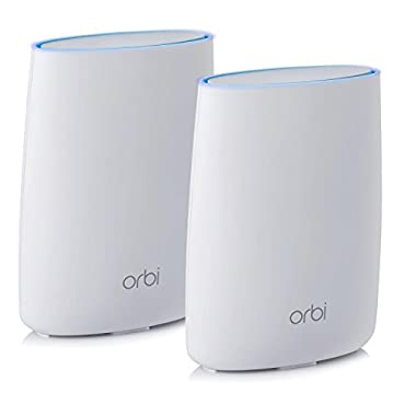 NETGEAR Orbi Home WiFi System: AC3000 Tri Band Home Network with Router & Satellite Extender for up to 5,000sqft of WiFi coverage (RBK50) Works with Amazon Alexa