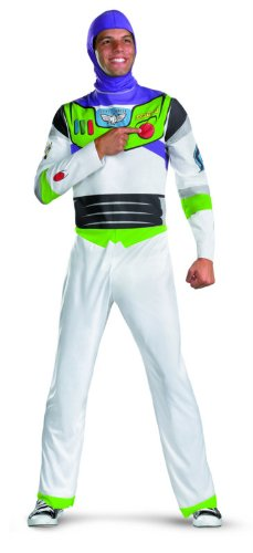 Disguise Men's Disney Pixar Toy Story and Beyond Buzz Lightyear Classic Costume, White/Green/Red/Purple, (Disney Buzz Lightyear Costume)
