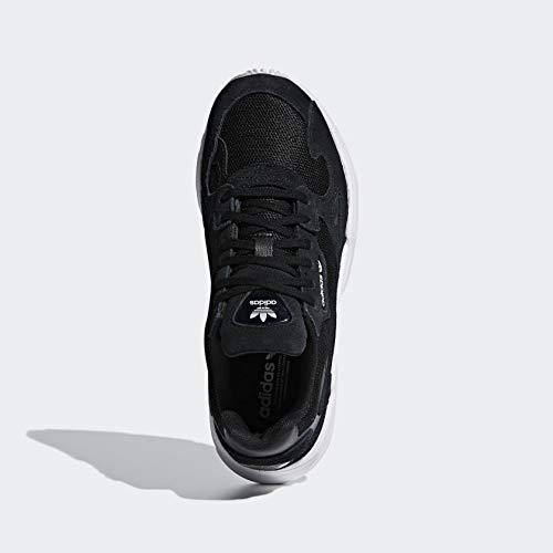 adidas Originals Women's Falcon Sneaker, Black/Black/White, 5.5 M US