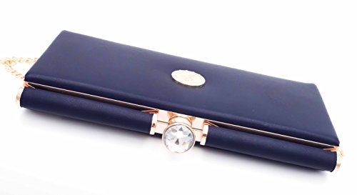 Gallantry - Cartera de mano de Charol para mujer azul marino