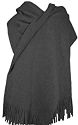 Cashmere Stole Large Scarf Shawl 100 Cashmere Gorgeous And Natural Model K0101 Charcoal Grey