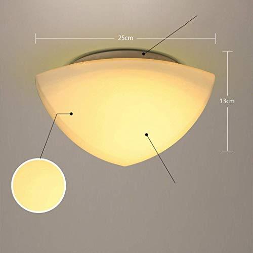 GCCI Plafonnier Simple et Moderne Balcon Couloir du Salon Chambre Lampe Abat-Jour Lampes Lampes du Plafond de Verre Chaud décoration de la Maison