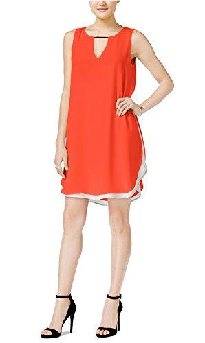 Casual Bar Colorblock Bar Orange III Layered Womens M III Dress SYrSqCw