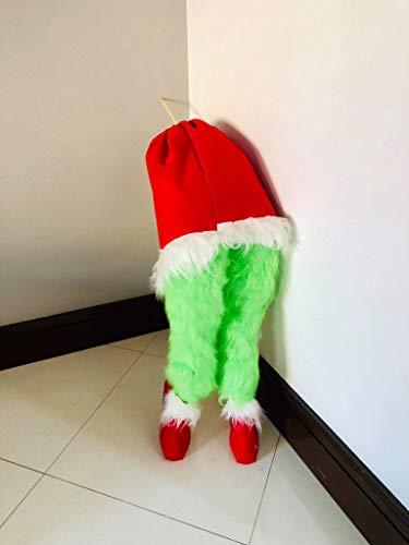 (Grinch legs Christmas tree)