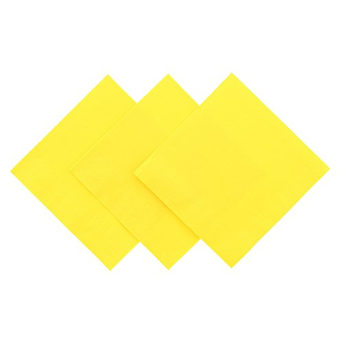 Royal Yellow Beverage Napkin, Package of - Yellow Napkins Wedding