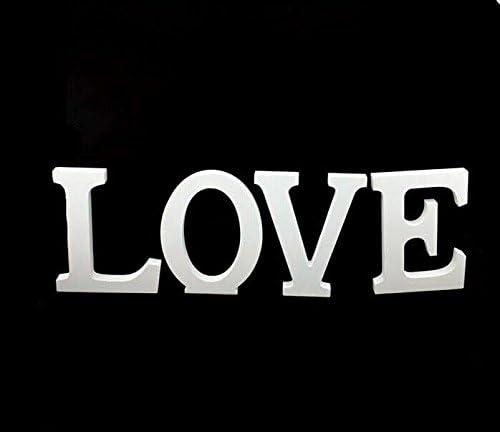 Blanc Ultnice Alphanet en bois lettres D/écoration de mariage et cadeau Love lettres