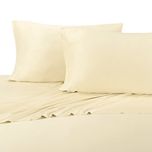 100% Bamboo Pillowcases - Set of 2 King, Solid Ivory - Super Soft & Cool, Bamboo Viscose, Pillow Case Set