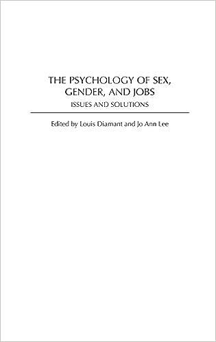 Gender issue job psychology sex solution