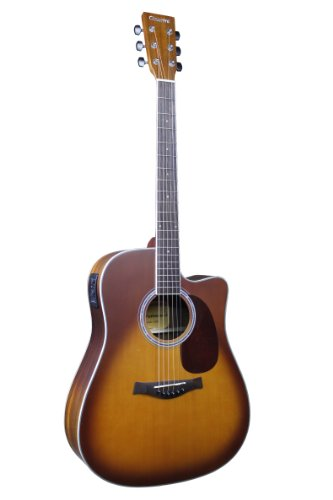 Giannini Guitars GF-2 CEQ HB Acoustic-Electric Guitar, Honey Burst