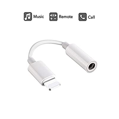 Labobbon 3.5mm Headphone Jack Adapter, Connector for iPhone Xs/Xs Max/XR/iPhone 8/8 Plus/X (10) / 7/7 Plus, iPad and More, Music Control & Calling