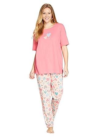 Dreams & Co. Women's Plus Size Cotton Knit Pajamas . at Amazon ...