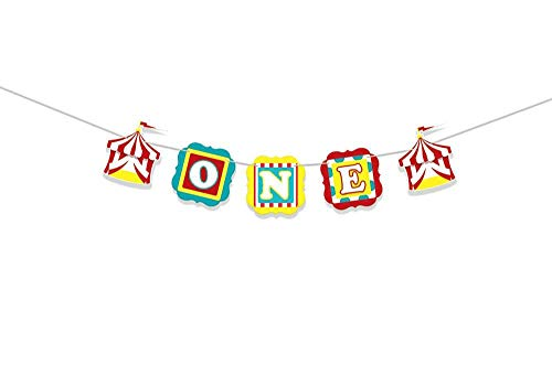 ONE Banner Circus Party Supplies 1st Birthday Decorations Carnival High Chair Banner Circus Birthday First Birthday ONE High Chair Banner 1st Birthday Banner Party Decorations
