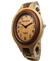 Tense Solid Maple Sandalwood Ladies Unique Bracelet Wood Watch L7301MS by Tense