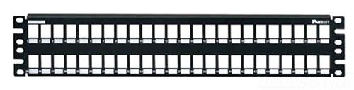 Panduit NKMP48Y Category-6 48-Port Flat Modular Patch Panel, Black (Mount Flush Faceplate Modular)