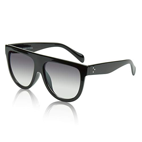 Oversized Sunglasses For Women/Men Square Butterfly Sun Glasses UV400 Protection (Flat top ()