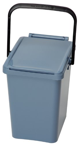10 Litre Urba Kitchen Food Waste Caddy - Pigeon Blue Gardening Delights 10 litre caddy - PB