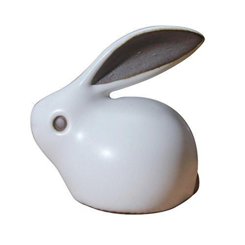 Rabbit Tea (Hoobar Chinese Tea Pet Mini Ru Kiln Tea Pet Cute Rabbit Zisha Pet for Kungfu Tea)