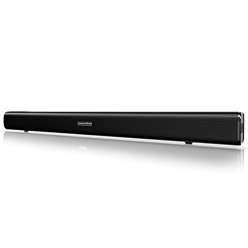 Sound Bar, Bluetooth Soundbar Audio TV Speaker - Wired and Wireless Connection, 29.5-Inches 2.0 Channel Home Theatre Sound System with 50 Watts Speakers, AUX/Optical/USB/BT Input Modes Remote Control by AwesomeWare