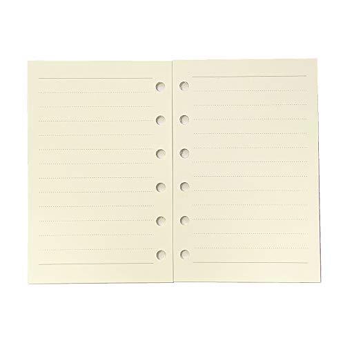 A7 Planner Refill,Mini Binder Refills,6 hole/100gsm Thick Paper/4.84 x 3.23'', Harphia (Pocket Refill Paper)