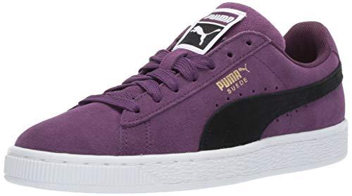 PUMA Men's Suede Classic Sneaker, Shadow Purple-Black-White, 7 M US -