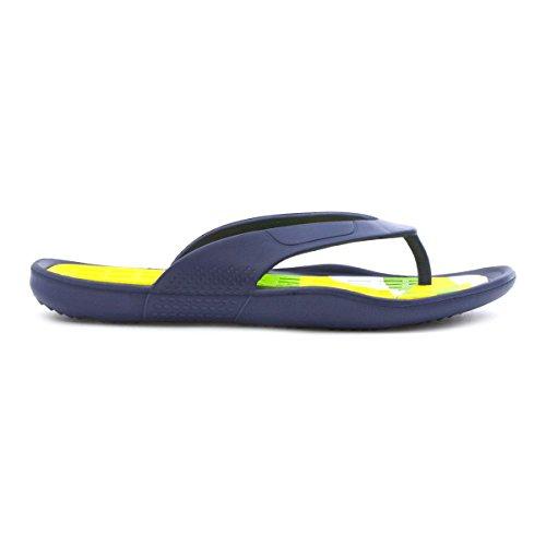 Zone Mens Navy Toe Post Sandal Blue h1XFSjiu