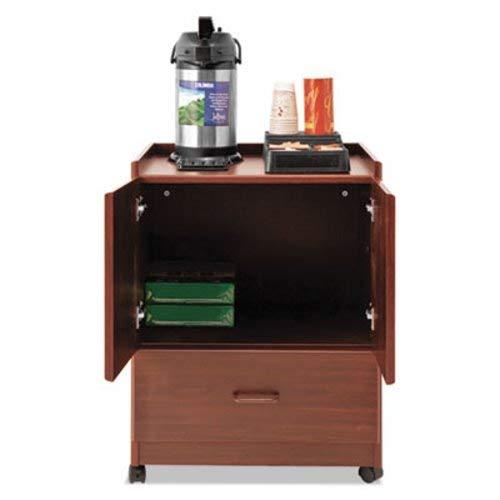 - Vertiflex Mobile Deluxe Coffee Bar, 23w x 19d x 30 3/4h, Cherry (VRTVF96033)
