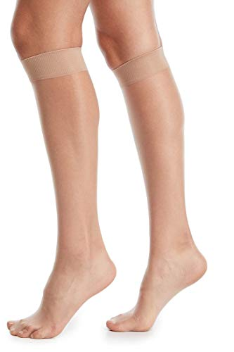 Donna Karan Whisper Weight Knee Highs DKS002 B02 O/Small