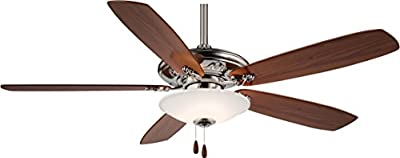 "Minka-Aire F622-PW, Traditional Mojo Pewter 52"" Ceiling Fan with Light"