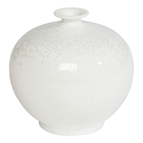 Ethan Allen Anna Porcelain Vase, Ice White