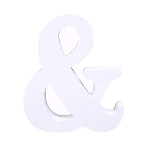 Tim&Lin Wooden Letters for Decoration,Wooden Alphabet & Hanging Wall Letters Marquee,DIY Block Words Sign Hanging Decor Letter for Home Bedroom Office Wedding Party Decor (White)