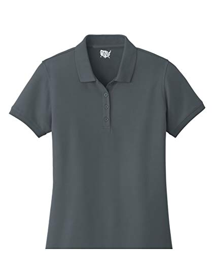 - One Country United Ladies Core Classic Pique Short Sleeved Golf Polo Graphite L