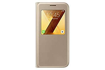 online store 23ab6 10644 Samsung Original S View Cover for Galaxy A5 2017 - Gold