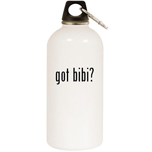 - Molandra Products got bibi? - White 20oz Stainless Steel Water Bottle with Carabiner