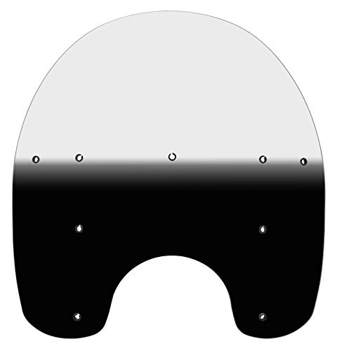 Memphis Shades 88-17 Harley FLSTC King Size Windshield for OEM Accessory Detachable Mounts (17