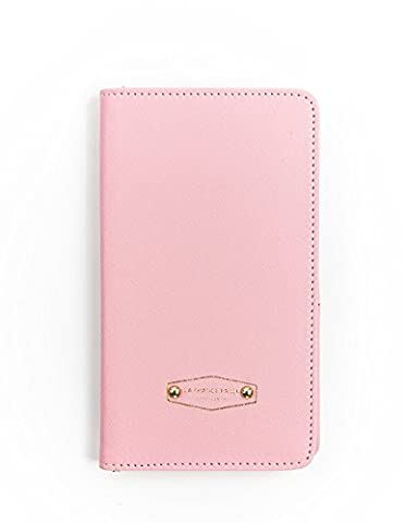 Zando Unisex Passport Holder Compact Case Multi-Purpose Travel Card Wallets Pink